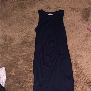 Navy blue Abercrombie and Fitch knotted tank dress